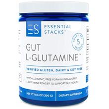 Essential Stacks Gut L-Glutamine Powder – Gluten, Dairy  & Soy Free, Vegan,