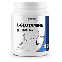 Nutricost L-Glutamine Powder 1 KG - Pure L Glutamine, 5000mg per Serving, Non-