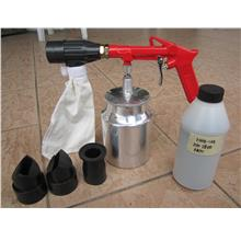 Hitto 1/4' Air Sand Blasting Gun with 1kg Abrasive Sand