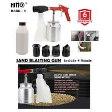 Hitto 1/4' Air Sand Blast Gun with 4 Nozzle included Abrasive Sand
