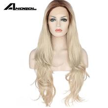 READY STOCK front lace wig 26 inches wavy brown root blonde