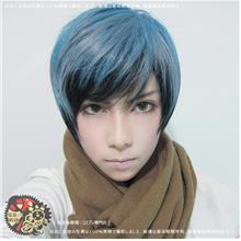Cosplay men hair wig blue black ready stock