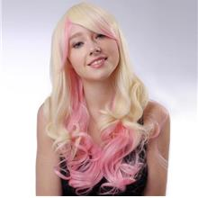 Cosplay hair wig blonde pink/ ready stock/ rambut palsu