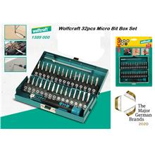 Wolfcraft 32pcs Precision Micro Screw Driver Bit Set with Box