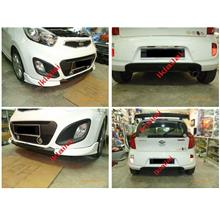 Kia Picanto Morning '11 Type C Body Kit Front+Rear Skirt+Spoiler [ABS]