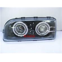 VOLVO 850 CCFL Dual-Projector Head Lamp Glass Lens + LED