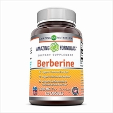 Amazing Formulas Berberine 500mg (1000mg Per Serving) 120 Capsules - Supports