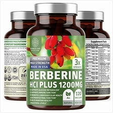 N1N Premium Berberine Plus 120 Caps, 1200mg [Non-GMO, US Made] Natural Supplem