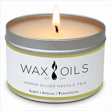 Wax and Oils Soy Wax Aromatherapy Scented Candles (Jasmin Silver Needle Tea) 8