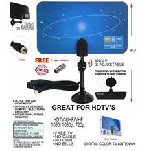 Mini Digital Indoor HDTV DTV VHF UHF Flat Antenna freeview tv