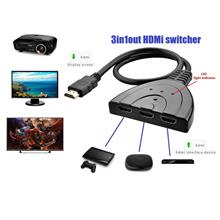 TV HDMI Splitter 3 in 1 Out Switch With Cable Adapter Switcher HDTV