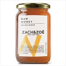 Unfiltered Raw Wildflower Honey by Zach & Zoe Sweet Bee Farm – (1) 16oz Jar