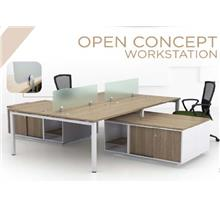 Office Workstation Table for 4 Pax with Cabinets SL55