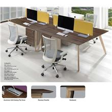 Cluster of 4 Pax Workstation with Chamfer Top