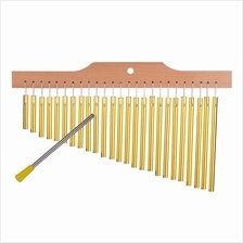 25 Bar Chimes Gold Aluminum Alloy Wooden Bar (Standard)