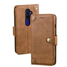Oppo A9 2020 A11X leather wallet Card slot flip case casing cover