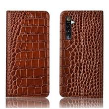 Realme XT cowhide crocodile real leather wallet case casing cover