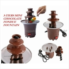 50% OFF! Elegant Mini 3-Tier Chocolate Fondue Fountain for HOT SALE