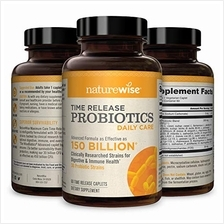 NatureWise Daily Probiotics for Women and Men | Time-Release, Comparable to 15
