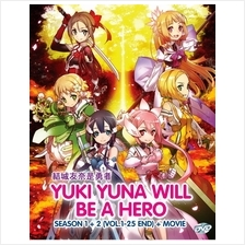 Yuki Yuna Will Be A Hero Season 1-2 + Movie Japanese Anime DVD