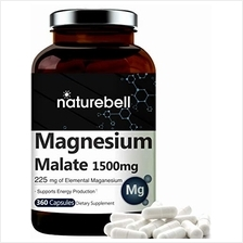 NatureBell Magnesium Malate 1500mg Per Serving, 360 Capsules, Non-GMO