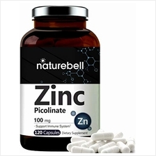 Maximum Strength Zinc 100mg, Zinc Picolinate Supplement, 120 Capsules, Zinc Vi