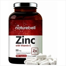 Zinc 50mg (Zinc Supplement with Vitamin C), 180 Capsules, Best Zinc Vitamin an