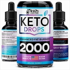 Keto Diet Drops with BHB Exogenous Ketones - Made in USA - Fat Burner  & Appet