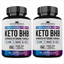 Keto Pills - [2 Pack | 120 Capsules] Advanced Keto Burn Diet Pills - Best Exog