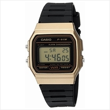 Casio Men's Data Bank Quartz Watch with Resin Strap, Black, 18 (Model: F91WM-9