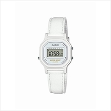 Casio Women's Classic Quartz Watch with Leather-Synthetic Strap, White, 14.8 (