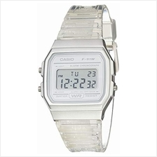 Casio Quartz Watch with Resin Strap, Clear, 20 (Model: F-91WS-7CF)