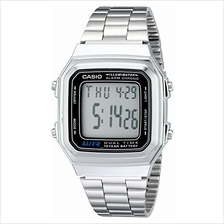 Casio Men's Classic Quartz Watch with Stainless-Steel Strap, Silver, 22 (Model