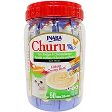 INABA Churu Lickable Creamy Purée Cat Treats Tuna Recipe and Chicken Recipe C