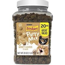 Purina Friskies Party Mix Chicken Adult Cat Treats - 20 oz.  & 30 oz. Canister