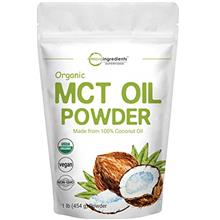 Micro Ingredients Organic MCT Oil Powder, 1 Pound (16 Ounce), MCT Oil for Coff