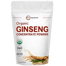 Maximum Strength Organic Ginseng Root 200:1 Powder, 4 Ounce, Red Panax Ginseng