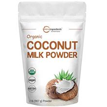 Micro Ingredients Organic Coconut Milk Powder, 2 Pound (32 Ounce), Plant-Based