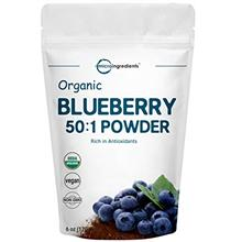 Sustainably Canada Grown, Organic Blueberry Extract 50:1 Concentrate Powder, 6