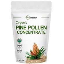 USDA Organic Pure Pine Pollen Powder, 6 Ounce, Supports Immune System Health,