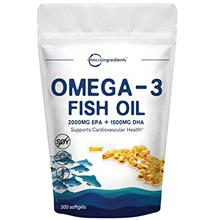 Triple Strength Omega-3 Fish Oil Supplement (Fish Oil Burpless), 3750mg Per Se