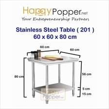 stainless steel folding  table 60x60x80CM commercial work table