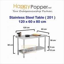 stainless steel 120x60x80CM commercial work table