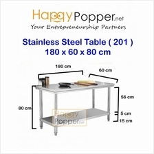 Stainless steel 180x60x80CM commercial work table