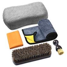 POLIWELL Leather Cleaning and Care Tool Kit, Used with Leather Conditioner and