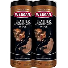 Weiman Leather Wipes - 2 Pack - Clean Condition UV Protection Help Prevent Cra