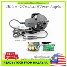 KUANTEN AC 230V to 9V DC 0.5A 4.5w Switching Power supply adapter LED DC plug