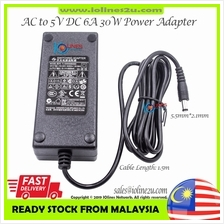 FUJIA 230V AC to 5V DC 6A 6000mA 30W Switching Power supply adapter FJ-SW05060