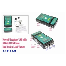Local+Remote LAN RJ11 RJ45 USB Cable Wire UTP STP Tester Network Dual LED