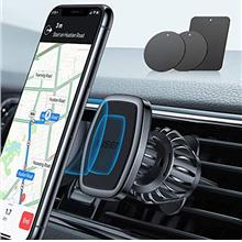 LISEN Phone Holder Car, [Upgraded Clip] Magnetic Phone Mount [6 Strong Magnets